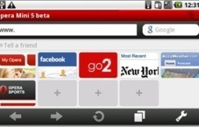 Opera Mini 5 Beta para Android