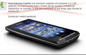 Actualizaciones de los Xperia de Sony Ericsson