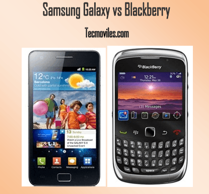 Blackberry vs Samsung Galaxy| Comparativa