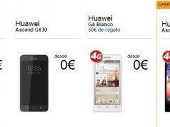 Precio móviles Huawei con Movistar, Vodafone y Orange