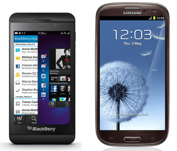 blackberry-vs-samsung-galaxy-comparativa