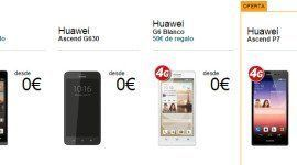 El Precio de los móviles Huawei con Movistar, Vodafone y Orange 2019