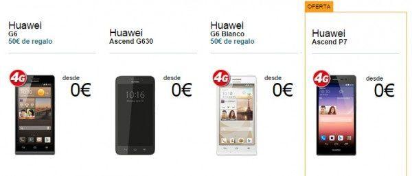 móviles Huawei vendidos por Vodafone