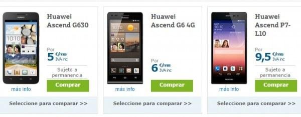 móviles Huawei con Movistar