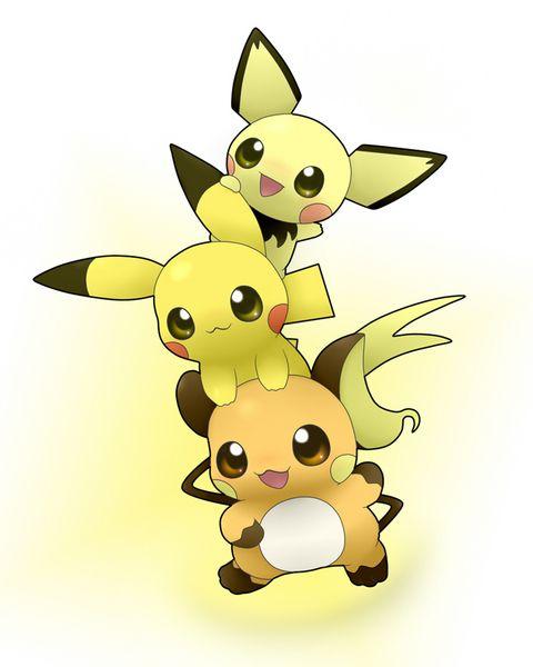 evolucion-de-pikachu-raychu-pikachu-pichu