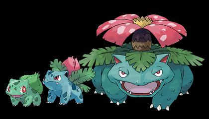 evolucion-de-bulbasaur-todos-los-trucos-evoluciones-diferentes