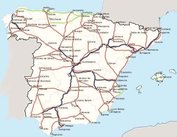 Mapa Renfe