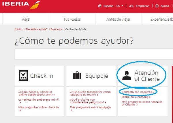 Atención al Cliente Iberia