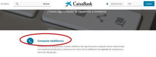 Teléfono la Caixa