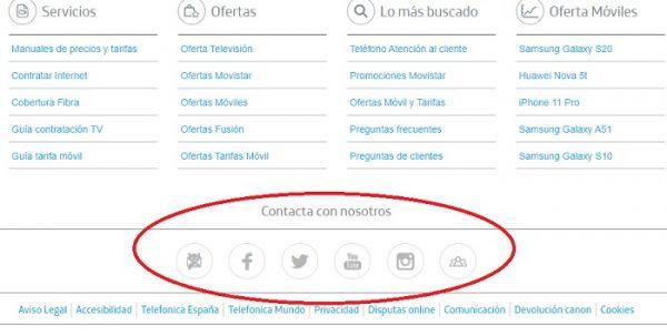 Teléfono atención al cliente Movistar