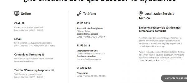 Contactos Samsung