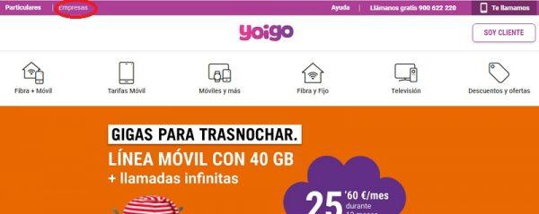 Telefono empresas Yoigo