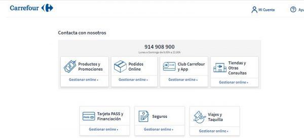 Formularios Contacto Carrefour