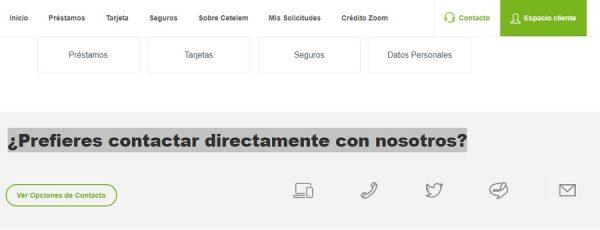 Atención al cliente web Cetelem