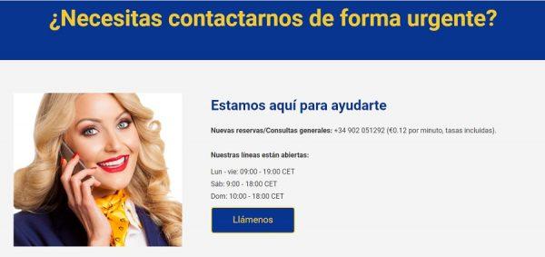 Teléfono de Contacto de Ryanair