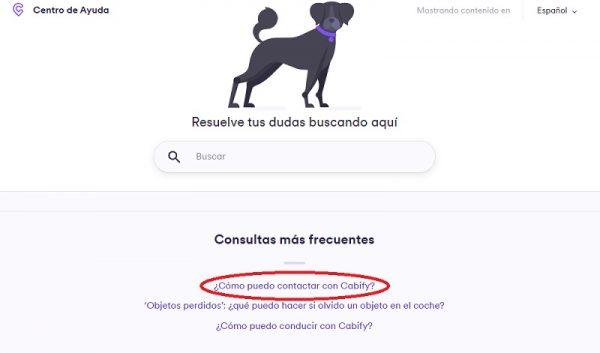 Contacto Cabify
