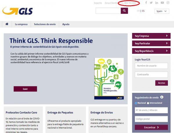 Teléfono de Atención al Cliente GLS