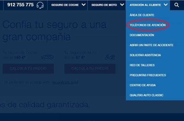 Contacto web Qualitas Auto